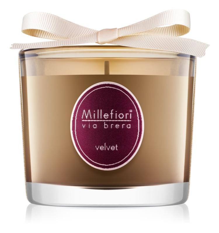 Millefiori Via Brera Velvet bougie parfumée 180 g