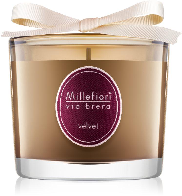 Millefiori Via Brera Velvet lumânare parfumată  180 g