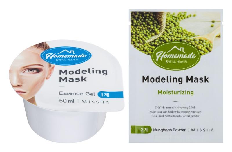 Missha Homemade Mungbean Powder Modellierende Gesichtsmaske mit Feuchtigkeit spendender Wirkung