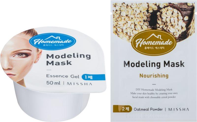 Missha Homemade Oatmeal Powder modelačná pleťová maska s vyživujúcim účinkom