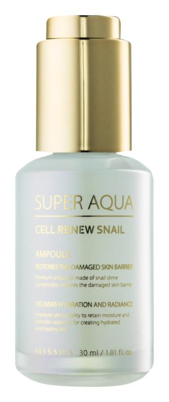 Missha Super Aqua Cell Renew Snail regeneračné pleťové sérum s extraktom zo slimáka
