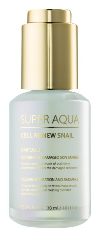 Missha Super Aqua Cell Renew Snail regenerační pleťové sérum se šnečím extraktem