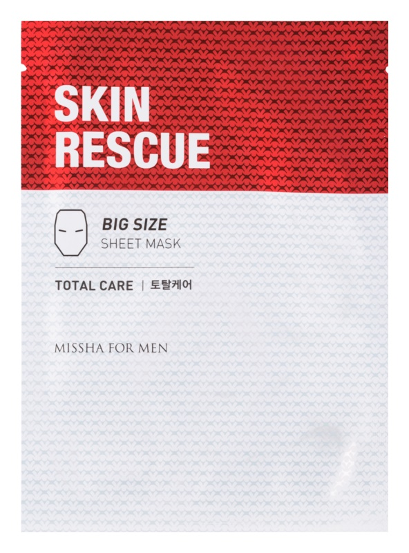 Missha For Men Skin Rescue mască textilă cu efect antirid pentru barbati