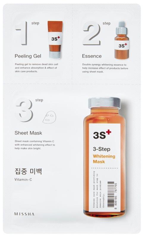 Missha 3-Step rozjasňující maska ve třech krocích