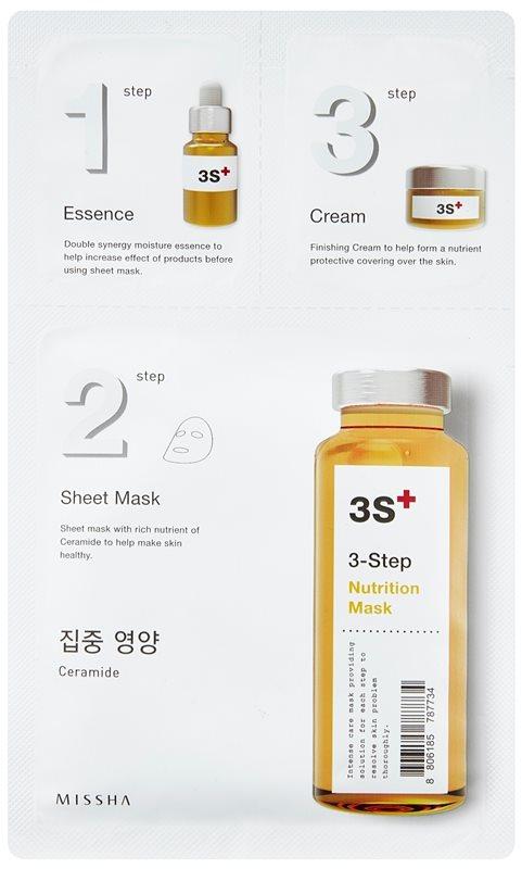Missha 3-Step mascarilla nutritiva en tres pasos