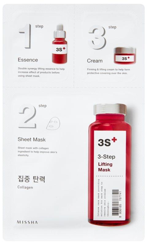 Missha 3-Step lifting maska v treh korakih