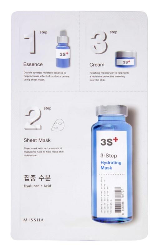 Missha 3-Step hydratačná maska v troch krokoch