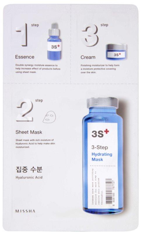Missha 3-Step vlažilna maska v treh korakih