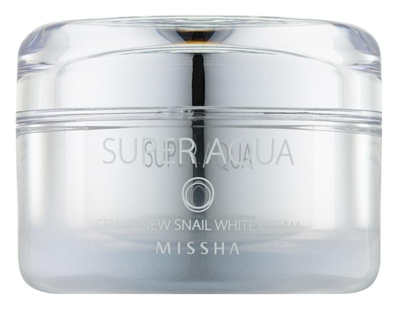 Missha Super Aqua Cell Renew Snail rozjasňující krém se šnečím extraktem