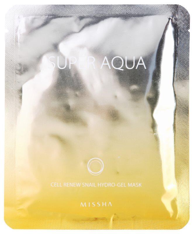 Missha Super Aqua Cell Renew Snail maseczka nawilżająca z ekstraktem ze śluzu ślimaka