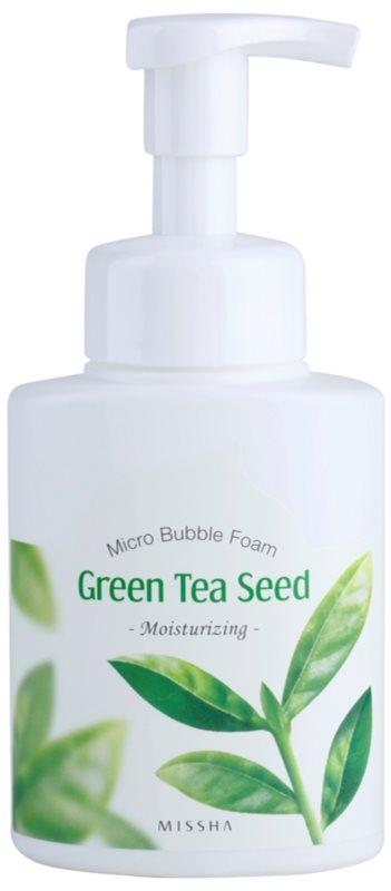 Missha Green Tea Seed hydratační čisticí pěna