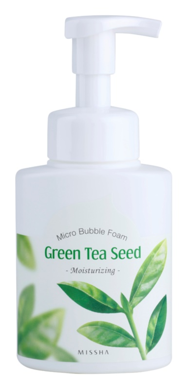 Missha Green Tea Seed Moisturising Cleansing Foam with Micro Bubbles