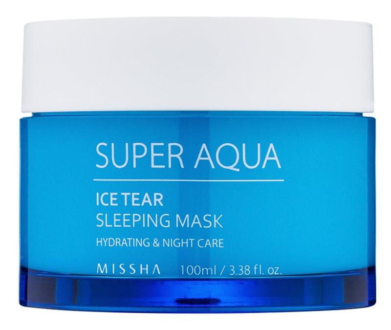 Missha Super Aqua Ice Tear máscara facial hidratante de leite
