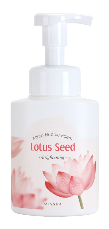 Missha Lotus Seed rozjasňující čisticí pěna