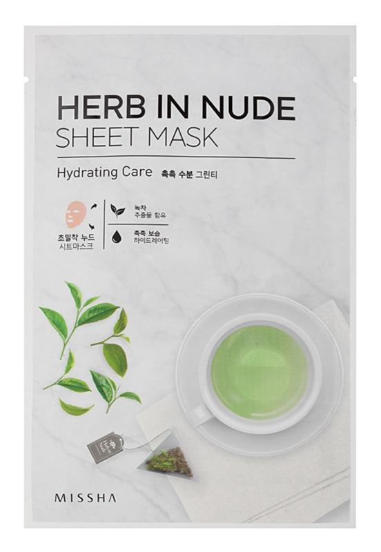 Missha Herb in Nude maseczka płócienna o dzłałaniu nawilżającym