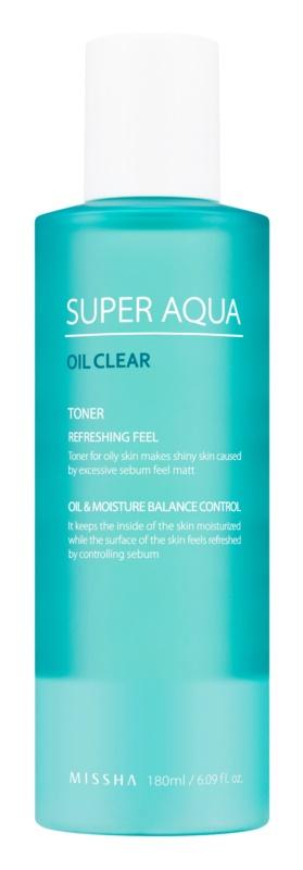 Missha Super Aqua Oil Clear tonik odświeżający