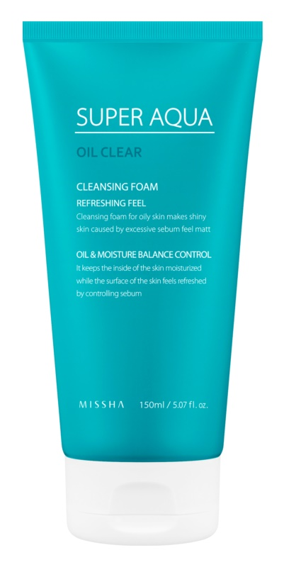 Missha Super Aqua Oil Clear odświeżająca pianka oczyszczająca