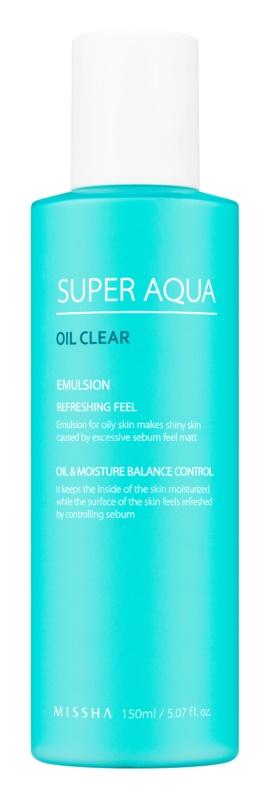 Missha Super Aqua Oil Clear emulsão refrescante