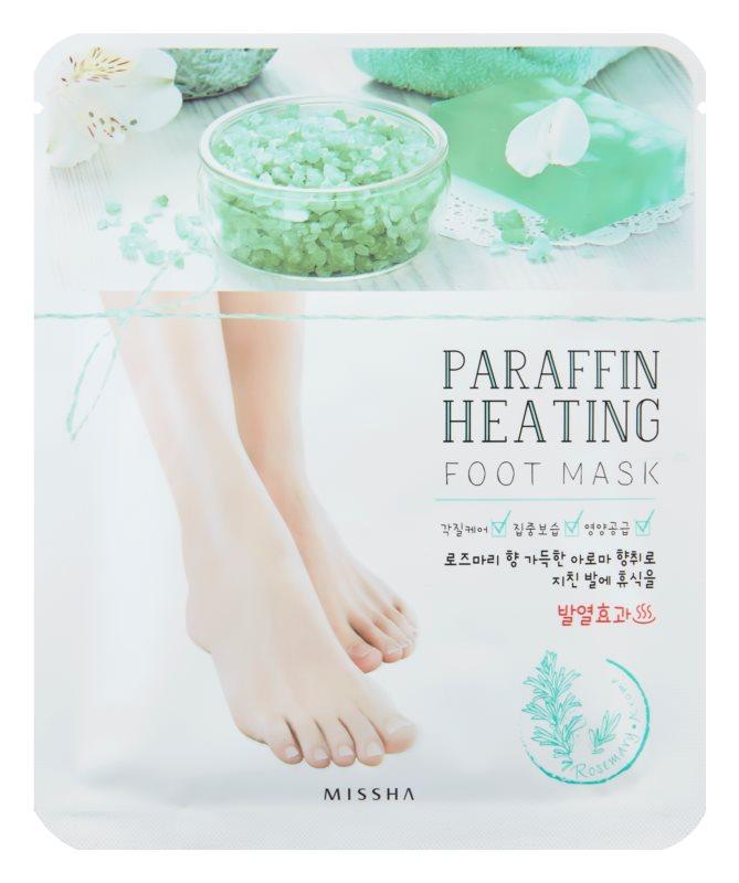Missha Paraffin Heating parafínová maska na nohy se zahřívacím efektem