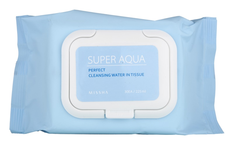 Missha Super Aqua Perfect čistiace pleťové obrúsky s hydratačným účinkom