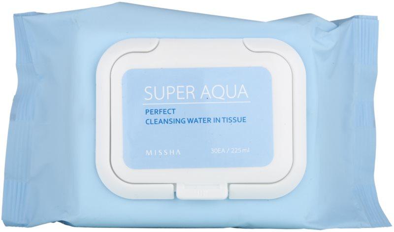 Missha Super Aqua Perfect čisticí pleťové ubrousky s hydratačním účinkem