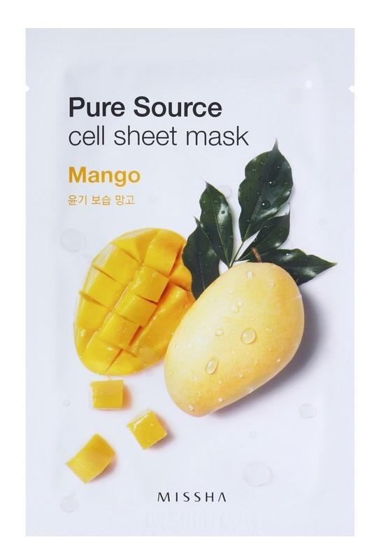 Missha Pure Source máscara em folha com efeito hidratante