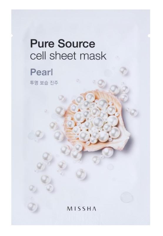 Missha Pure Source arcmaszk bőrvilágosító hatással