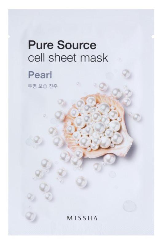 Missha Pure Source maska iz platna s posvetlitvenim učinkom