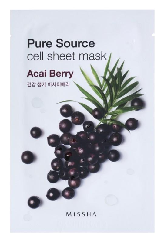 Missha Pure Source maska iz platna z revitalizacijskim učinkom