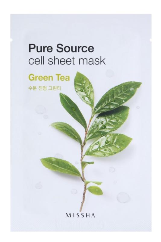Missha Pure Source plátenná maska s upokojujúcim účinkom