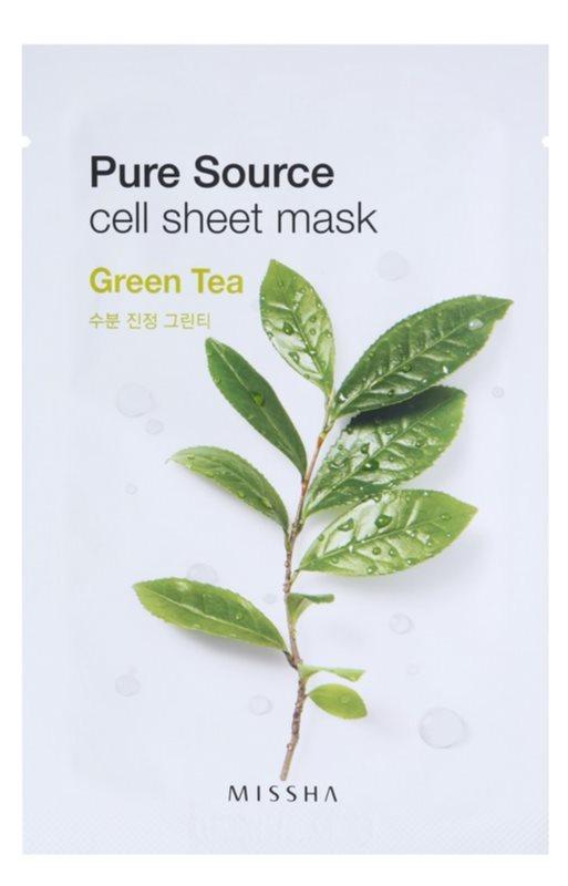 Missha Pure Source Zellschichtmaske mit beruhigender Wirkung