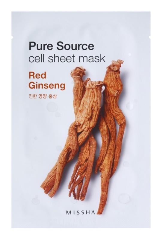 Missha Pure Source máscara em folha com efeito energizante