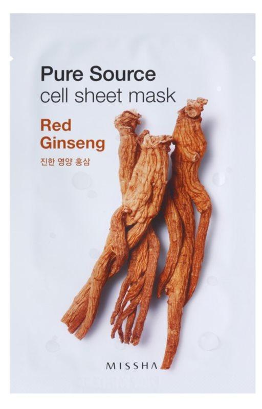 Missha Pure Source plátýnková maska s energizujícím účinkem
