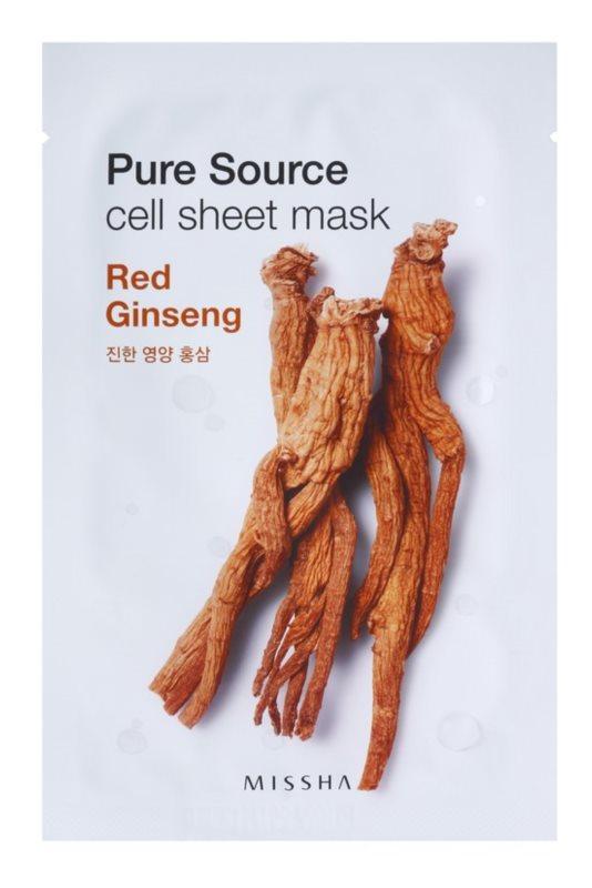 Missha Pure Source Zellschichtmaske mit stärkender Wirkung