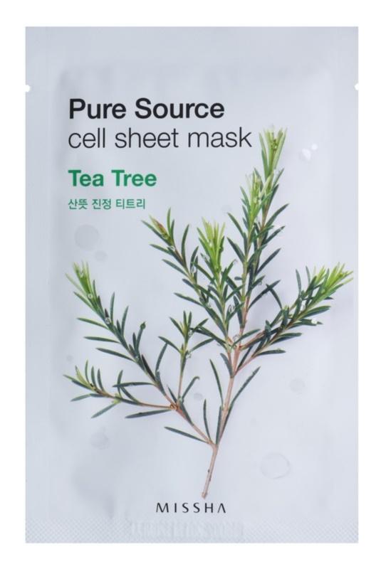 Missha Pure Source plátenná maska s čistiacim a osviežujúcim účinkom