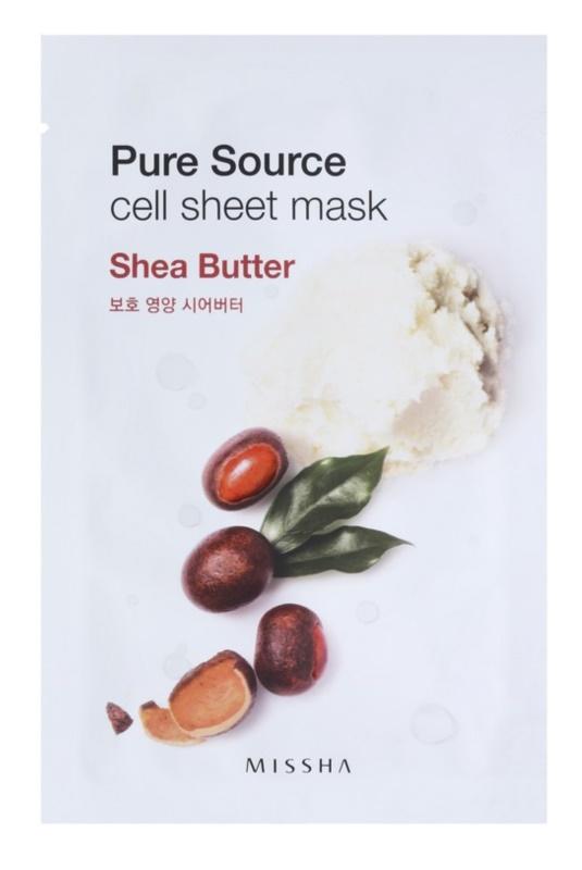 Missha Pure Source mascarilla hoja con efecto nutritivo e hidratación profunda