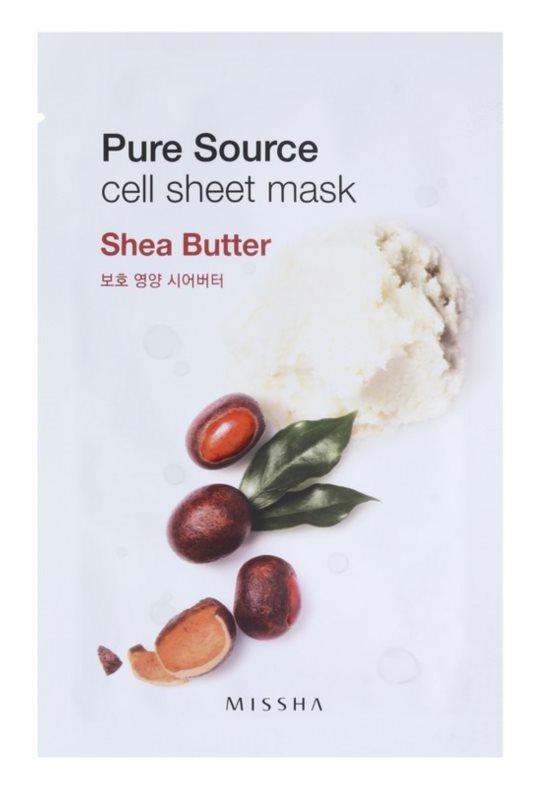 Missha Pure Source plátýnková maska s vysoce hydratačním a vyživujícím účinkem