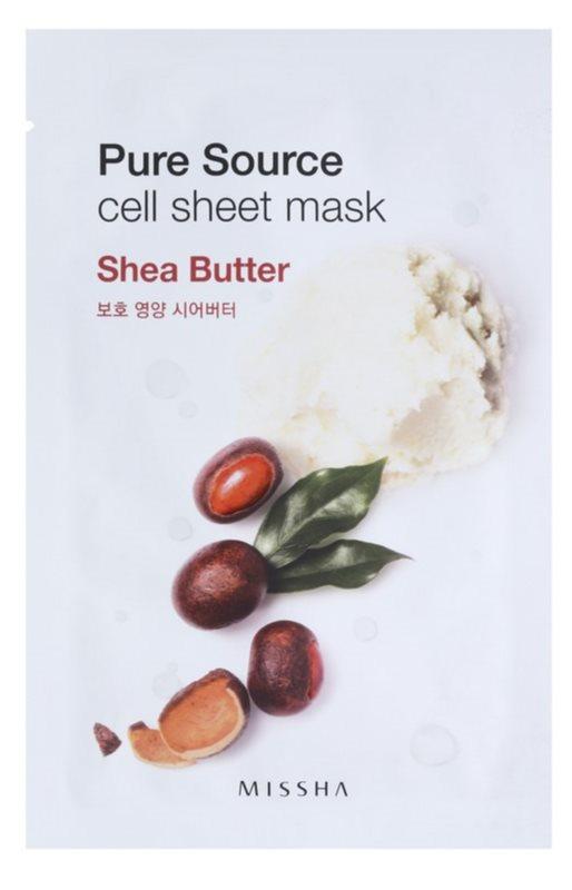 Missha Pure Source Sheet maska s visoko hidratantnim i hranjivim učinkom