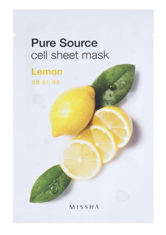 Missha Pure Source bőrfrissítő arcmaszk