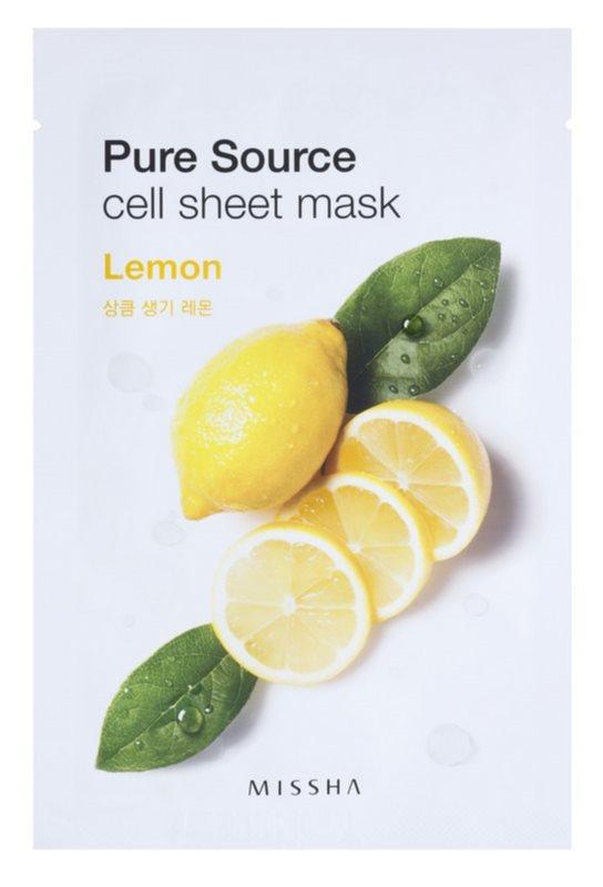 Missha Pure Source Zellschichtmaske mit erfrischender Wirkung