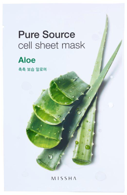 Missha Pure Source plátýnková maska s hydratačním a vyhlazujícím účinkem