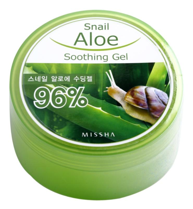 Missha Snail Aloe zklidňující a hydratační gel s aloe vera  se šnečím extraktem