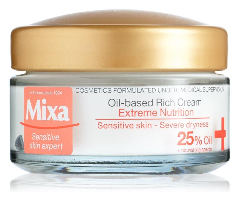 MIXA Extreme Nutrition bohatý hydratační krém s pupalkovým olejem
