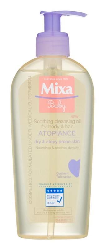 MIXA Atopiance Ulei de curățare calmantă pentru păr și piele, cu o tendință de atopie