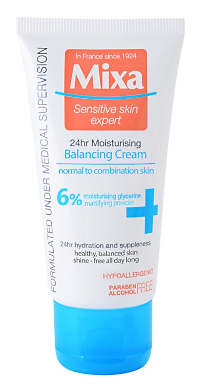 MIXA 24 HR Moisturising Balancing And Moisturizing Cream for Normal and Combination Skin