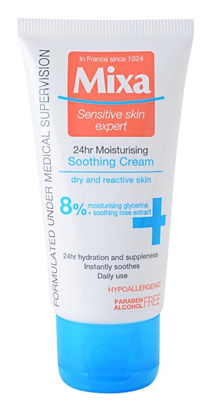MIXA 24 HR Moisturising hydratačný a ukľudňujúci krém pre citlivú a intolerantnú pleť