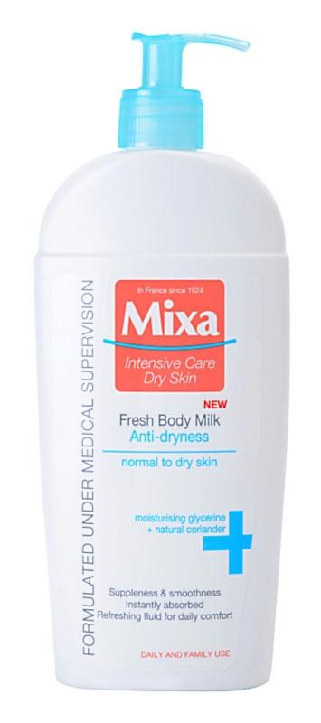 MIXA Anti-Dryness osvěžujúce telové mlieko pre normálnu a suchú pokožku