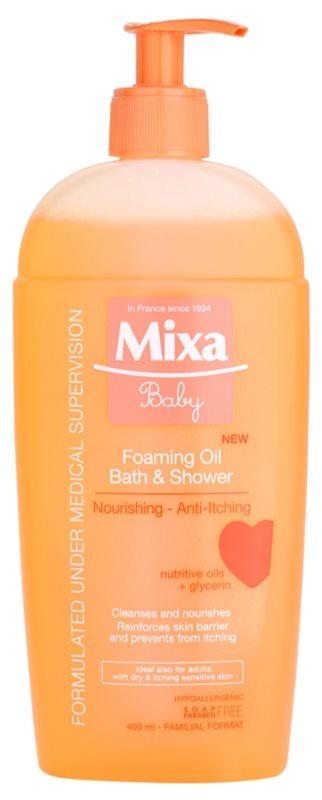 MIXA Baby olio in schiuma per bagno e doccia