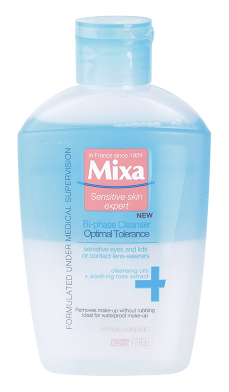 MIXA Optimal Tolerance desmaquillante de ojos bifásico