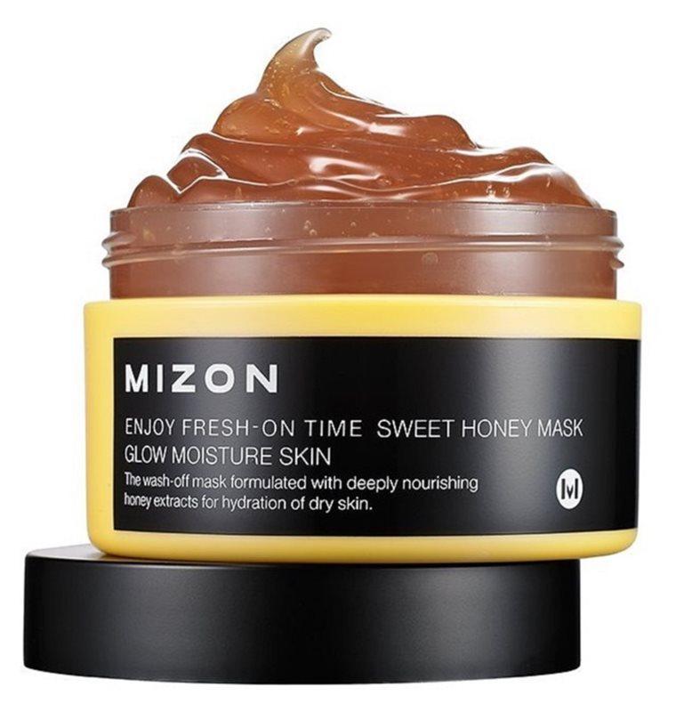 Mizon Enjoy Fresh-On Time Aufhellende und Feuchtigkeit spendende Maske mit Honig für trockene Haut